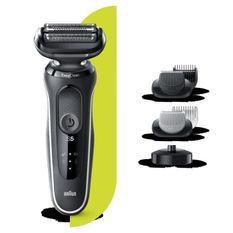 BRAUN Series5 50-W4650cs Tondeuse barbe - 3 sabots - Station de charge - Technologie Wet&Dry - Autonomie 50min