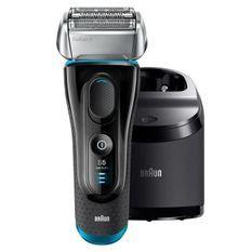 BRAUN Series 5 5190cc Rasoir électrique sans fil Wet&Dry - Noir et Bleu