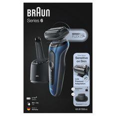 BRAUN Series6 60-B7200cc Tondeuse barbe - Autonomie 50min - Technologie SensoFlex