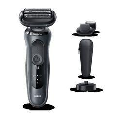 BRAUN Series6 60-N4500cs Tondeuse barbe - 3 sabots - Station de charge - Technologie SensoFlex -Autonomie 50min