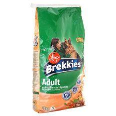 BREKKIES Croquettes a la volaille et aux légumes - 15kg (x1) - Pour chien adulte