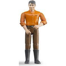 BRUDER Homme chatain avec jean marron