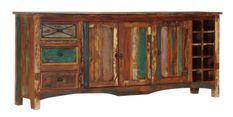 Buffet 3 portes 3 tiroirs bois massif recyclé Moust