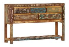 Buffet 5 tiroirs bois massif recyclé Moust