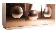 Buffet design 4 portes miroir bronze Lizy 180 cm