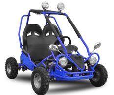 Buggy enfant électrique 450W bleu