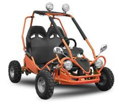 Buggy enfant électrique 450W orange