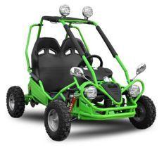 Buggy enfant électrique 450W vert