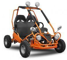 Buggy enfant électrique orange 450W avec marche arrière