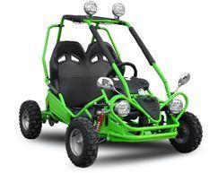 Buggy enfant électrique vert 450W avec marche arrière