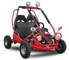 Buggy enfant électrique rouge 450W avec marche arrière
