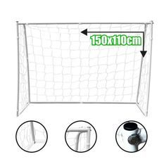 BUMBER Cage de football Deluxe M - 150 x 110 x 60 cm - Blanc