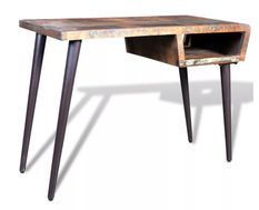 Bureau bois massif recyclé et métal noir Cloust