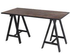 Bureau bois noir et marron vintage Loft