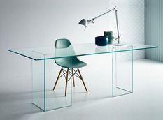 Bureau design verre transparent Hasmi
