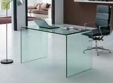 Bureau design verre trempé Saki 100 cm