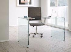 Bureau design verre trempé Saki 120 cm