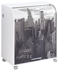 Bureau informatique à rideau blanc imprimé New York Must