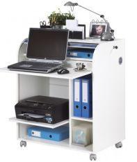 Bureau informatique à rideau blanc Must