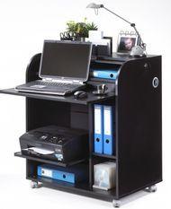 Bureau informatique à rideau noir Must