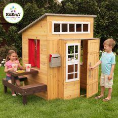 Cabane pour enfants avec table repas en bois Kidkraft 182