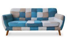 Canapé 3 places patchwork tissu multicolore Ambee