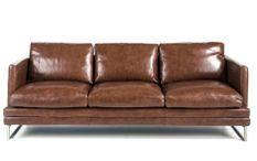 Canapé cuir 3 places haut de gamme Kora