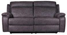 Canapé de relaxation 3 places électrique Microfibre Marron Rick