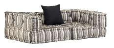 Canapé modulaire avec accoudoirs 2 places tissu à rayure Cold