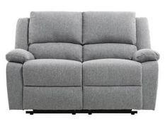 Canapé relaxation 2 places manuel tissu chiné gris clair Rilax