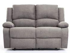 Canapé relaxation manuel 2 places microfibre gris Confort