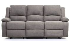 Canapé relaxation manuel 3 places microfibre gris Confort