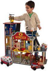 Caserne de pompiers Deluxe Kidkraft 63214