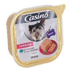 CASINO Barquette au canard et légumes - Chien - 300 g