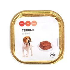 CASINO Barquette de terrine au boeuf - 300 g - Pour chien