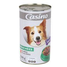 CASINO Bouchées en sauce au boeuf et aux pâtes - Pour chien adulte
