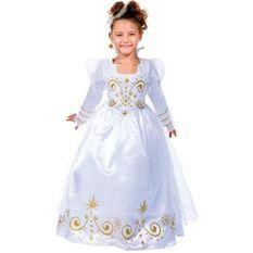 CESAR - B454 - Robe fée Blanche et Or - 3 / 5 ans