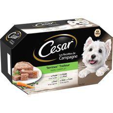 CESAR Barquettes en terrine - 4 variétés - Pour chien adulte - 4 x 150 g