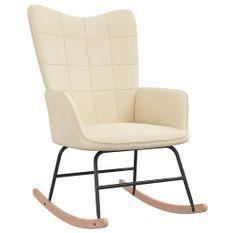 Chaise à bascule Crème Tissu