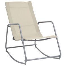 Chaise à bascule de jardin Crème 95x54x85 cm Textilène