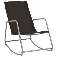 Chaise à bascule de jardin Noir 95x54x85 cm Textilène