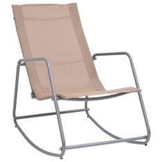 Chaise à bascule de jardin Taupe 95x54x85 cm Textilène