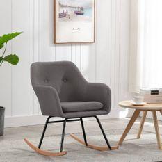 Chaise à bascule Gris clair Tissu