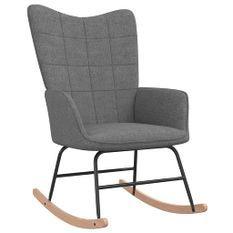 Chaise à bascule Gris foncé Tissu