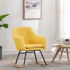 Chaise à bascule Jaune moutarde Tissu