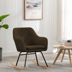 Chaise à bascule Marron Tissu