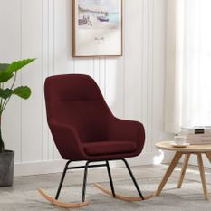 Chaise à bascule Rouge bordeaux Tissu