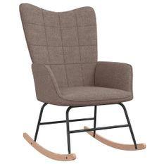 Chaise à bascule Taupe Tissu