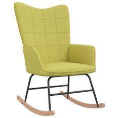 Chaise à bascule Vert Tissu