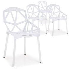Chaise araignée blanche Arany - Lot de 4